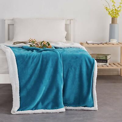 Xmas Gift Sherpa Flannel Fleece Blanket Reversible Soft Fuzzy Lightweight ()