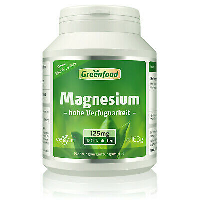 Greenfood Magnesium, 125mg, Tabletten, vegan