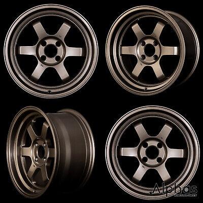 ROTA GRID-V 16x8 4X100 +20 67.1 Sport Bronze (Set of 4 Wheels)