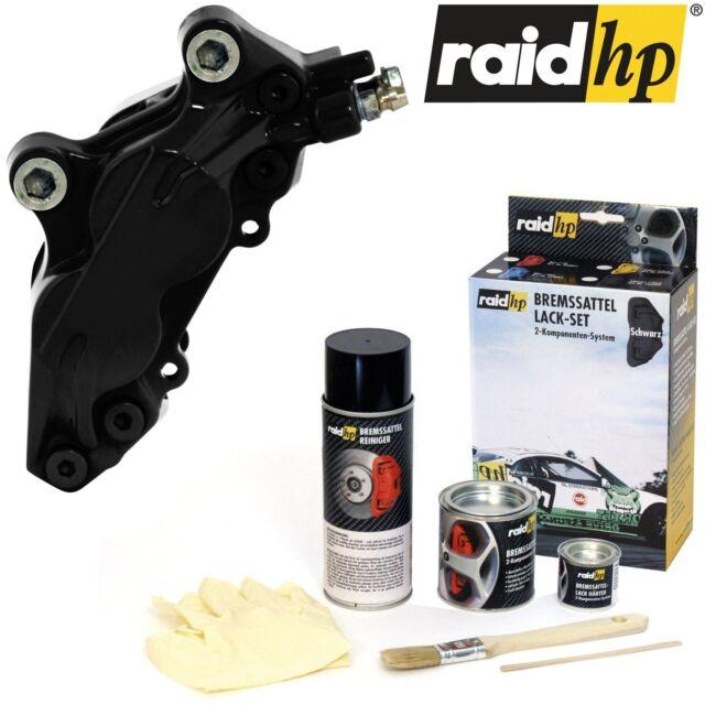 raid hp Bremssattellack SCHWARZ glänzend mit Zubehör 6tlg Set 2K-Profi Qualität