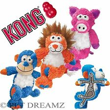 KONG CROSS KNOTS – PLUSH SQUEAKY DOG PUPPY TOY - KNOTTED ROPE FOR STRENGTH