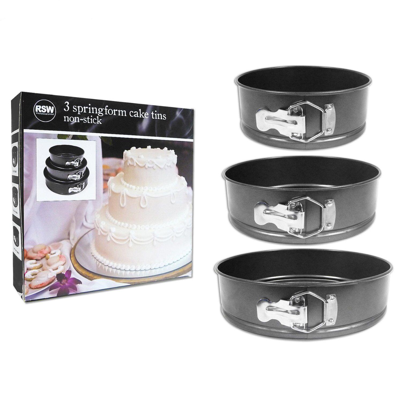Non Stick Springform Cake Pan Baking Bake Tray Tin Wedding Birthday 22cm