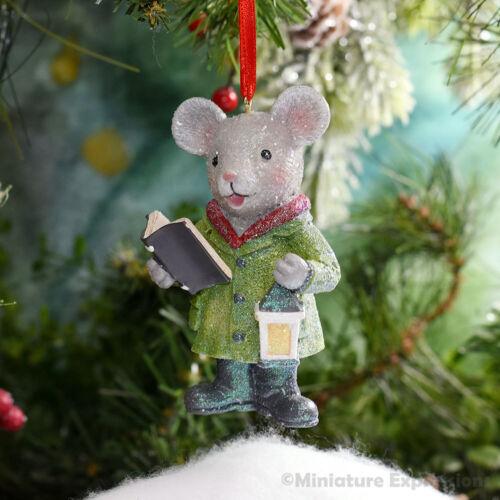Gentleman Mouse Caroler Christmas Ornament Tree Decoration