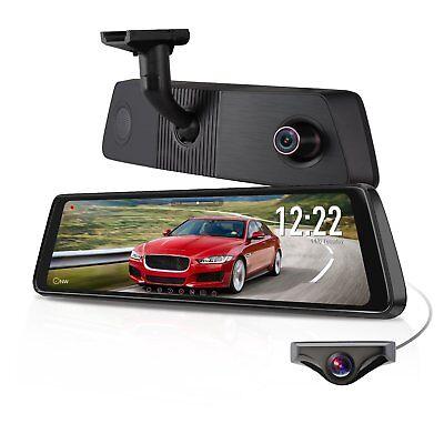 "Auto-Vox X1Pro 9.88"" Dual Lens Car DVR Rear View Mirror Dash Cam Camera Recorder"