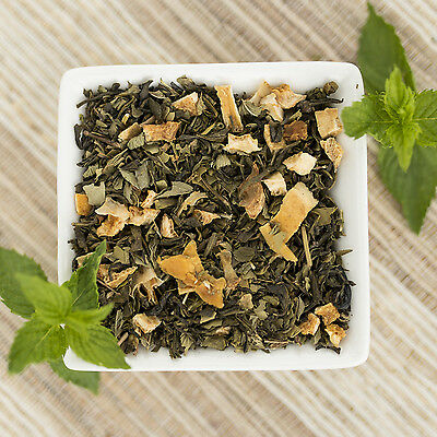 (Mango Mojito Organic Green Tea Blend, Choose loose leaf, tea bags or sample size)