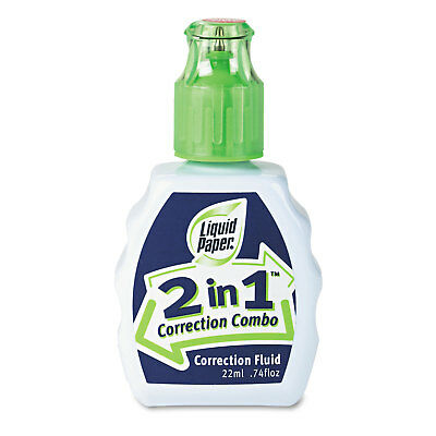 Liquid Paper 2-in-1 Correction Combo 22 Ml Bottle White 42030