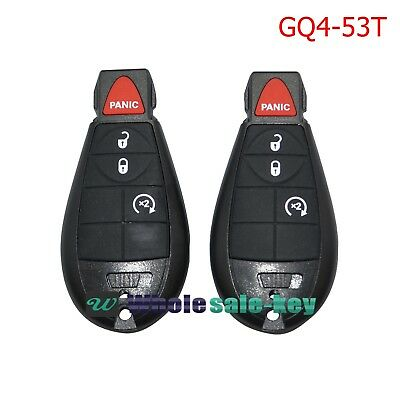 2 FOR 2013 2014 2015 2016 2017 DODGE RAM 1500 2500 3500 KEY REMOTE FOB GQ4-53T