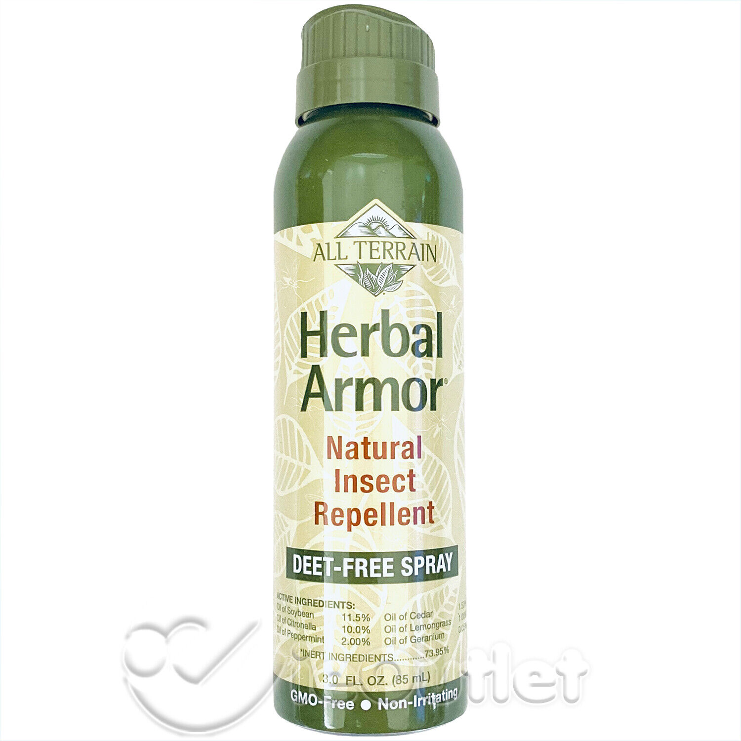 All Terrain DEET-Free Herbal Armor Insect Repellent, 3 Ounce
