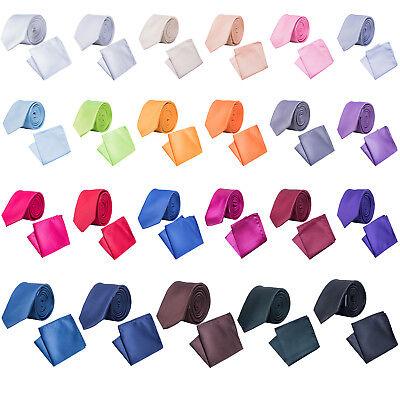 Korntex ® Krawatte schmal mit Einstecktuch Krawattenset Business dünn