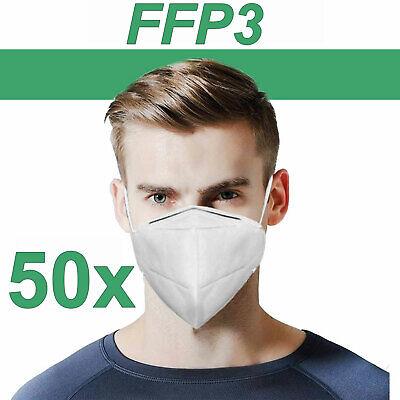 FFP3 Maske Atemschutzmaske Schutzmaske Bakterien Gesichtsmaske EN149 50 Stück