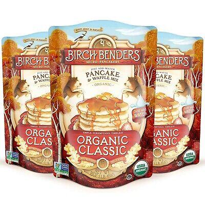 Birch Benders Organic Pancake and Waffle Mix, Whole Grain, Classic, 48 oz (Pa...