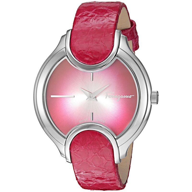 Ferragamo FIZ010015 Women SIGNATURE Silver-Tone Quartz Watch