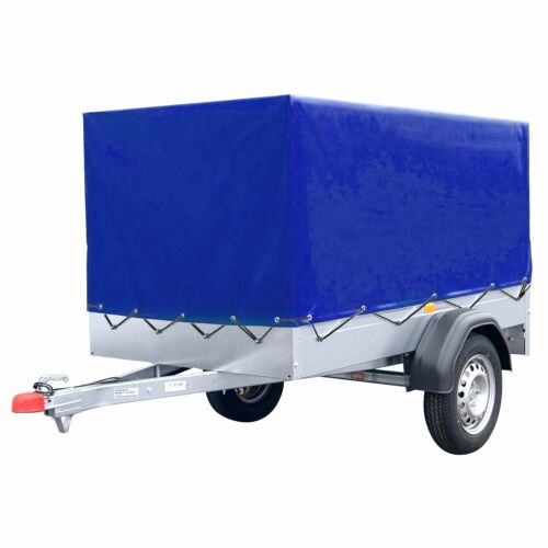 XXL Hochplane Anhänger Plane Stema Spriegel Blau Anhängerplane Baumarktanhänger