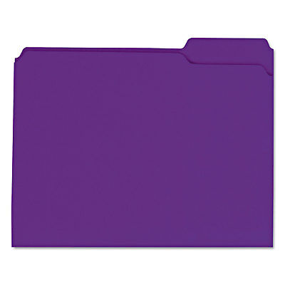 Universal Colored File Folders 13 Cut Assorted Two-ply Top Tab Letter Violet