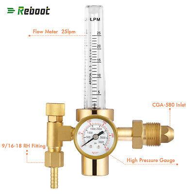 Argon Co2 Mig Tig Flow Meter Welding Weld Regulator Gauge Gas Welder Cga-580