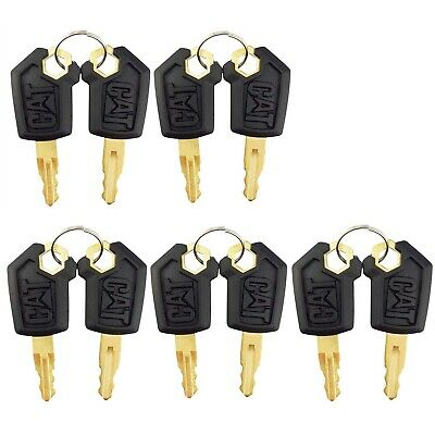 10 Keys For Cat Caterpillar Heavy Equipment Ignition Key 5p8500 With Cat Logo