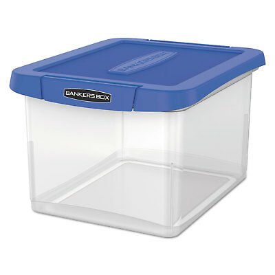 Bankers Box Heavy Duty Plastic File Storage 14 18 X 17 25 X 10 35 Clear