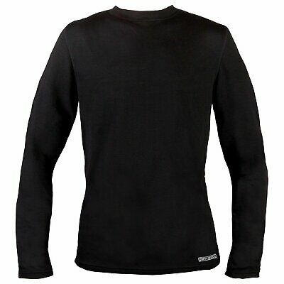 c8fc8113bdf89 Omni-Wool Mens Dual Base Thermal Layer Long Sleeve Shirt Top Merino Wool  Blend L