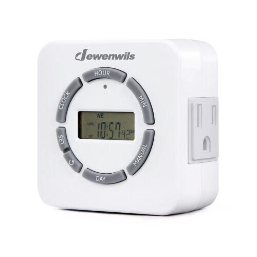 DEWENWILS Indoor Digital Outlet Light Timer 7Day Programmable Plug in Lamp Timer