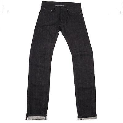 Siki Im Slim-Fit Black Selvedge Denim Jeans with Articulated Stitch 30 Den Im