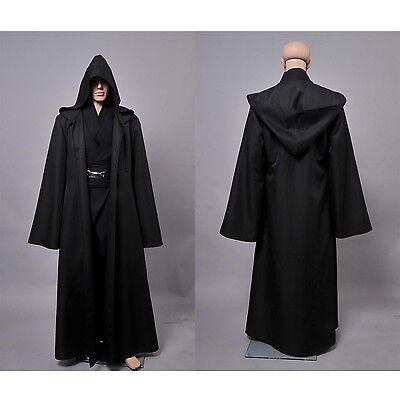 Star Wars Anakin Skywalker Cosplay Kleidung Hose Uniform Größe S-XL Gewand Maß (Anakin Skywalker Kostüm Schwarz)