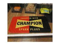 Champion Spark Plug Service Weatherproof Outdoor Garage Workshop Use Art BANNER