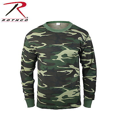 Camo Thermal Underwear Top - Rothco 6100 Thermal Knit Underwear Top - Woodland Camo