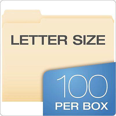 Pendaflex File Folders Letter Size 8-12 X 11 Classic Manila 100 Count Box