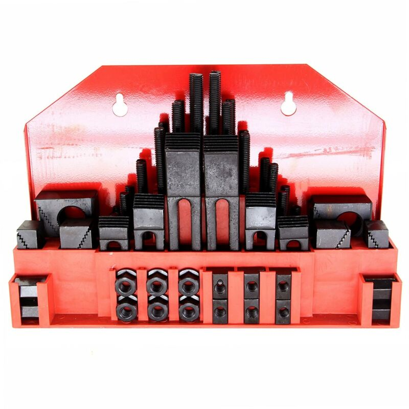 """HFS(R) 58Pc 5/8"""" Slot 1/2""""-13 Stud Hold Down Clamp Clamping Set Bridgeport Mill"""
