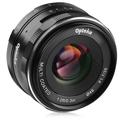 Opteka 35mm f/1.7 Lens for Sony a6500 a6300 a6000 a5100 a5000 a3000 NEX-6 5N