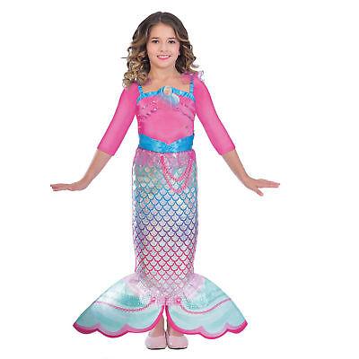 Meerjungfrau Kostüm Gr. 116 Barbie Mädchen Kinder Karneval Haloween - Mädchen Barbie Kostüm Meerjungfrau