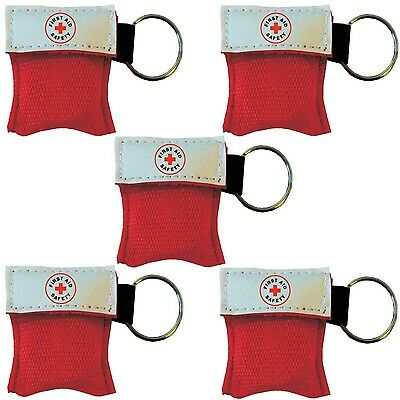 NEW ResQue1st CPR Mask Key Chain Kit (5-pack)  One-way Valve and Face Mask