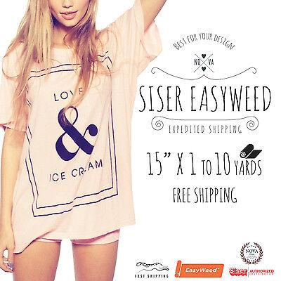 "Siser Easyweed™ Heat Transfer Vinyl Press HTV 15"" x 1,5,10 Yards :)"