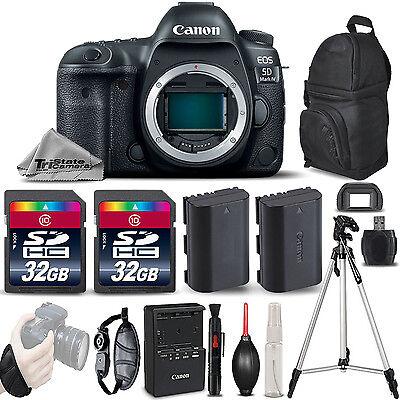 Canon EOS 5D Mark IV GPS WiFi NFC DSLR Camera Substance + EXT BAT + Tripod - 64GB Kit