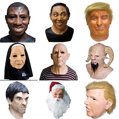 Realistic Latex Halloween Mask (Realistic Old Man Latex Mask Human Full Face Mask Fantasy Costume Halloween)