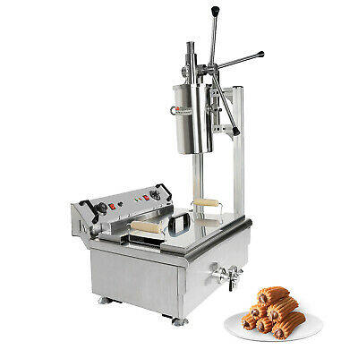 Aldkitchen Churros Machine 3-hole Nozzles Manual No Plug Deep Fryer