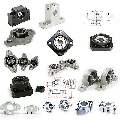 Ball Bearings Pillow Block Flange Mount Linear Rod Shaftend Supportfkshfff