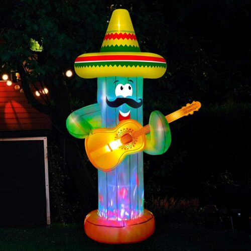 7 Ft cactus May 5th Cinco de Mayo airblown inflatable yard decor