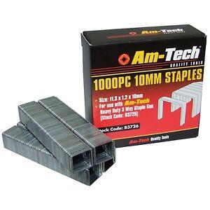 1000 Heavy Duty 10mm Quality Staples for Staple Gun Office Wall
