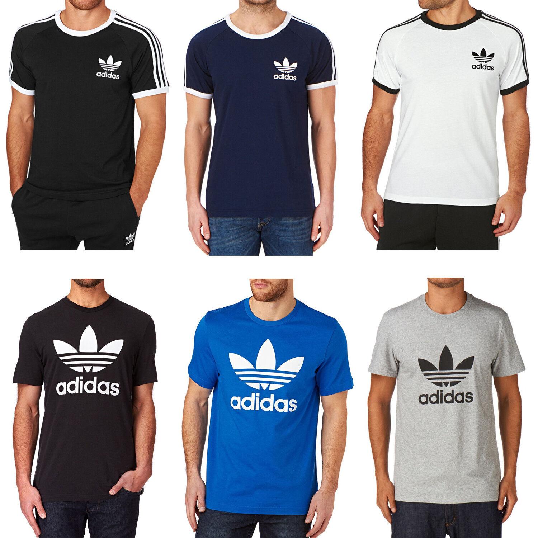 Adidas Herren Rundhals Trefoil oder California Freizeit T-shirt Kurzarm S-XXL