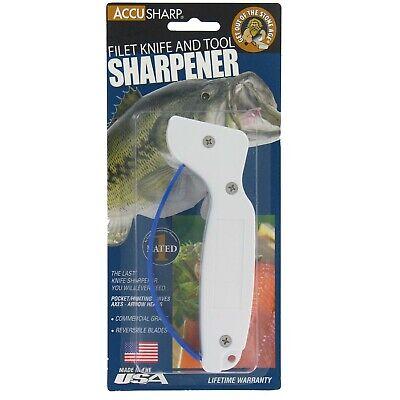 Accusharp 001 Knife Sharpener Reversible Blades for Filet