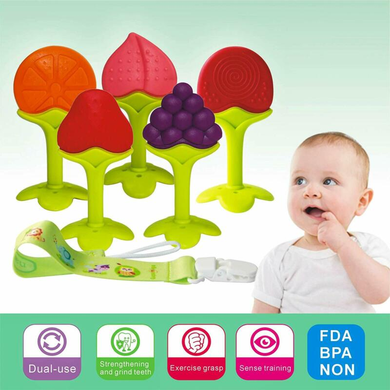Soft Silicone Baby Infant Teether Teething Toy BPA Free