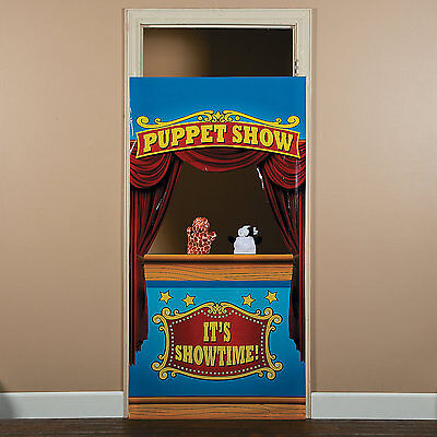 Carnival Big Top Tent Circus Party Decoration Prop PUPPET SHOW DOOR BANNER - Circus Door Decorations