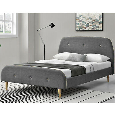 Polsterbett Doppelbett Bettgestell 140 x 200cm Skandinavisches Design Lattenrost