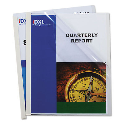 "C-Line Report Covers with Binding Bars Vinyl Clear 1/8"" Capa"