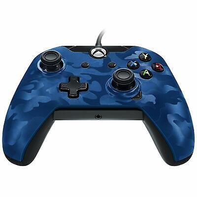 BLUE CAMO Wired Controller Officially Licenced XBOX ONE X S & PC NEW SEALED PDP