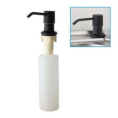 Black Kitchen&Bathroom Sink Stainless Steel Liquid Soap Dispenser Pump Bottle