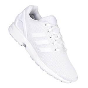 La imagen se está cargando Adidas,ZX,Flux,Mujer,Ninos,Zapatillas,blancas,S81421