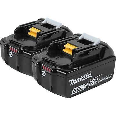 Genuine Makita BL1850B-2 18V LXT Batteries 5.0 AH LED Gauge - 2 Battery Pack