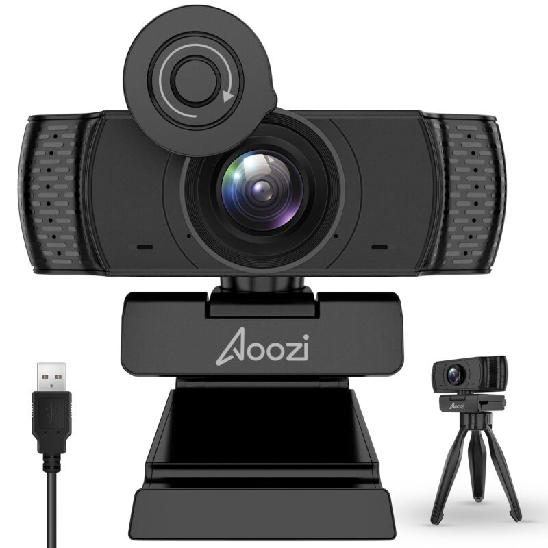 Webcam with Microphone 1080P USB Computer Web Camera Video Calling For PC Laptop